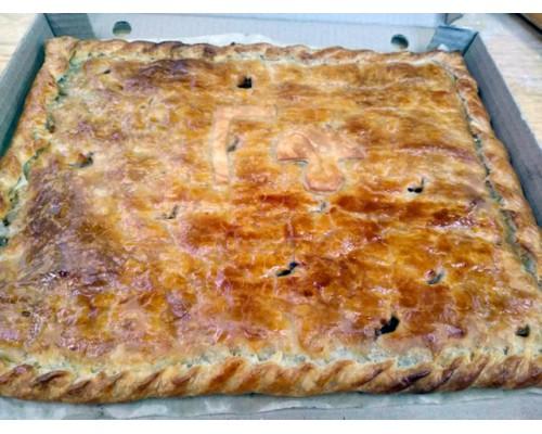 Постный Пирог с грибами и картофелем