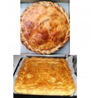 Пирог с рыбой тресковых пород с рисом и овощами - 2 кг