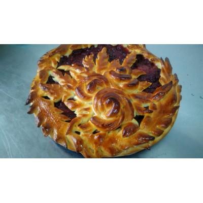 Постный Пирог Праздничный, открытый пирог с повидлом