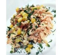 Тарталетка с салатом «Обжора»